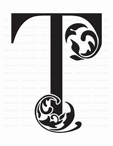 large initial letter t wall decor letter stencil With large monogram letter stencil