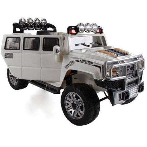 power wheels jeep white new 2015 big extended edition hummer h3 style kids ride on