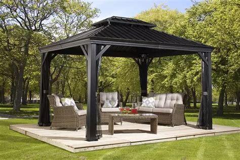 metal gazebo ideas  enhance  yard  garden