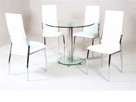 small round dining table and chairs small round clear glass dining table and 4 faux chairs in