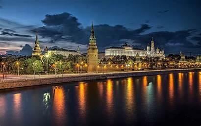 Russia Moscow Desktop Summer Russian River Kremlin