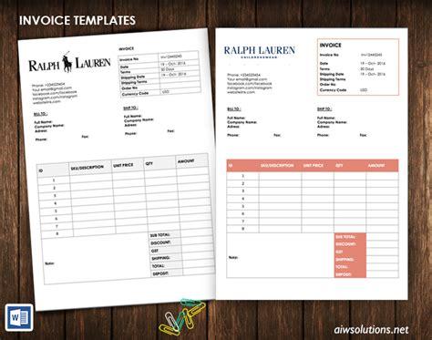 editable invoice receipt template business invoice