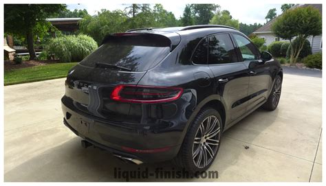 porsche macan all black ultimate vehicle protection 2015 porsche macan turbo black