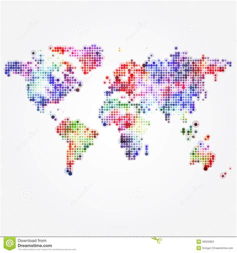 Carte Vectorielle Monde Powerpoint by Carte Du Monde Avec Les Points Color 233 S De Diff 233 Rentes