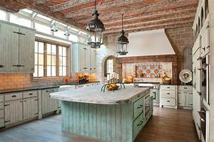 19 marvelous rustic kitchen designs that will attract your With kitchen cabinet trends 2018 combined with mexican outdoor metal wall art