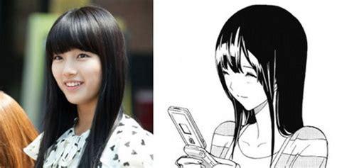 Anime Idol Yang Bagus Suzy Miss A 10 Idol Yang Mirip Karakter