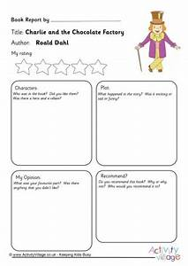 charlie and the chocolate factory resources With roald dahl book review template