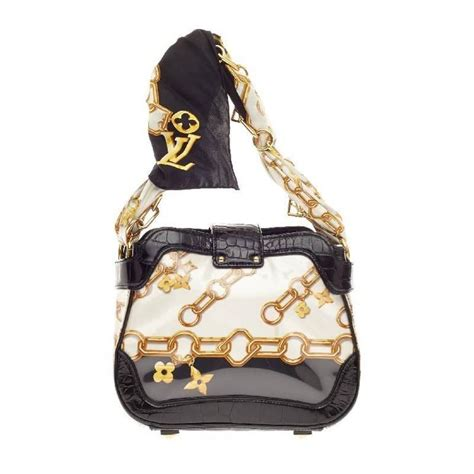 louis vuitton linda charms scarf bag monogram silk