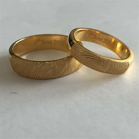 pretty sun and crescent moon name engraved rings