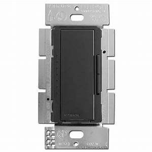 Black Lutron Smart Dimmer Switches
