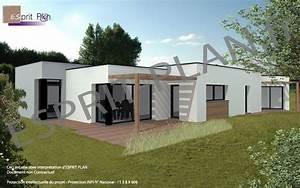 beautiful maison moderne en acier de plain pied photos With attractive plan de maison cubique 15 maison plein pied moderne mc immo