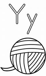 Yarn Coloring Letter Colouring Bulkcolor sketch template