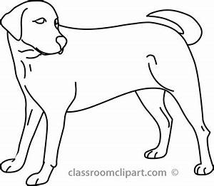 Dog Black And White Clipart - Clipart Suggest