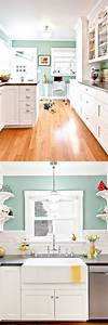 25 gorgeous paint colors for kitchen cabinets and beyond With kitchen colors with white cabinets with big wall art canvas