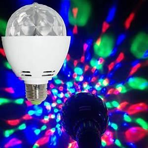Ampoule Boule à Facette : ampoule led e27 disco rotative jeux de lumi re ~ Teatrodelosmanantiales.com Idées de Décoration