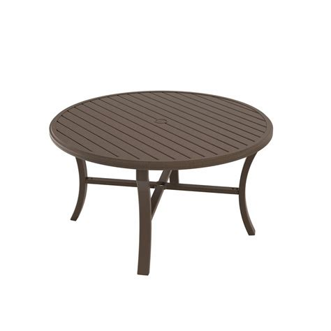"Tropitone Banchetto 54"" Round Dining Table  Leisure Living"