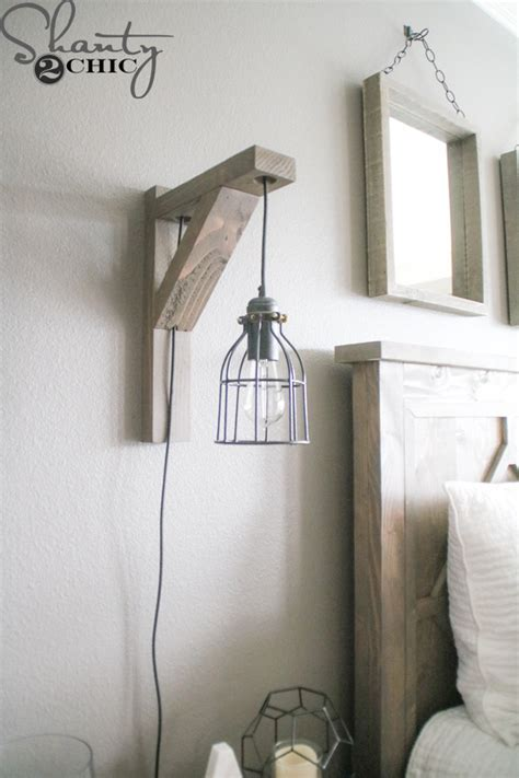 DIY Corbel Sconce Light for $25   Shanty 2 Chic