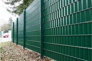 Sichtschutzzaun 2 50 M Hoch : sichtschutz f r doppelstabmattenzaun moosgr n ~ Bigdaddyawards.com Haus und Dekorationen