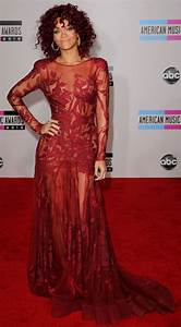 Rihanna in a red hair and red dress at the 2010 American Music Awards | POPSUGAR Celebrity Australia