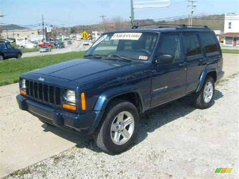 jeep cherokee blue 2001 jeep cherokee blue 200 interior and exterior images