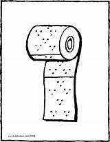 Toilet Paper Roll Colouring Drawing Coloring Pages Kiddicolour 01v Draw Bart Simpson Line sketch template