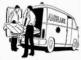 Ambulance Coloring Realistic Driver Hospital Carry Patient Vehicle Nearest Important Currently sketch template