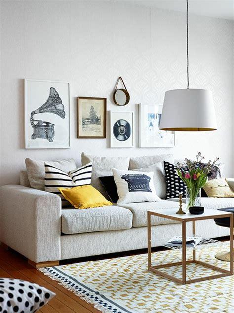 peinture canapé cuir comment créer salon scandinave