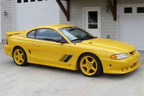 Canary Yellow 1995 Saleen S351 Ford Mustang Coupe
