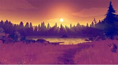 Firewatch Wallpapers Orange Sunset Backgrounds Landscape 4k