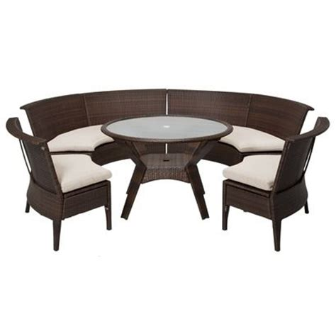 threshold rolston 5 wicker sectional patio dining