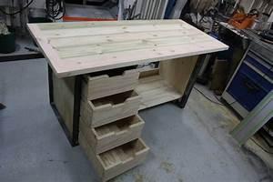 Construire Un établi En Bois : etabli acier et bois ~ Premium-room.com Idées de Décoration