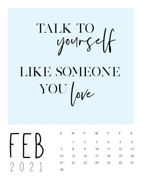 inspirational quotes calendar world  printables