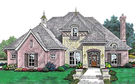 french country style house plan    sq ft  bed  bath   bath