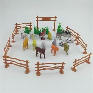 Aliexpress.com : Buy 15pcs/pack Plastic Farm Animals Toys ...
