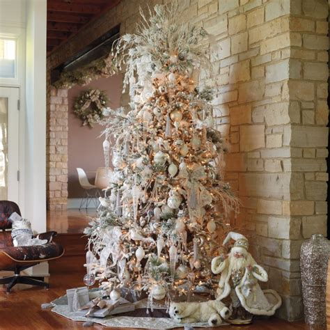 decorating a white christmas tree ideas beautiful christmas trees and a link party celebrate decorate