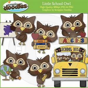 Little School Owl Clip Art Download | school | Pinterest