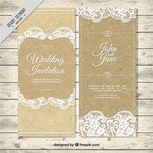 decorative vintage wedding invitation with lace vector With classic decorative wedding invitations vector