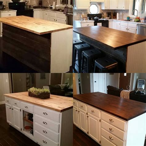 Staining Butcher Block Countertops by Diy Butcher Block Countertops Rustic Refined Repete