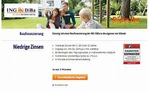 Immobilienfinanzierung Berechnen : ing diba baufinanzierung erfahrungen angebot im test ~ Themetempest.com Abrechnung