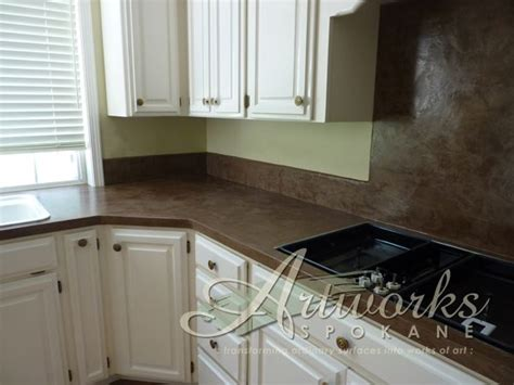 how to tile kitchen countertops laminate skimstone laminate countertop and tile backsplash 9584