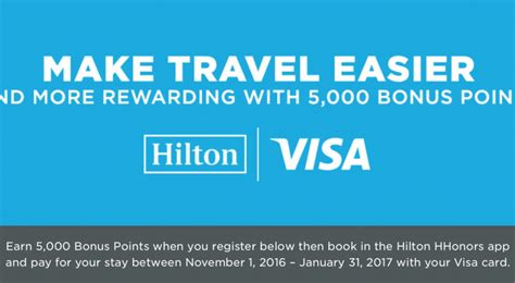 Enter the citi hilton hhonors visa signature and reserve cards, two powerful earners for hilton guests. Use Your Visa Credit Card to Earn 5,000 Bonus Hilton ...