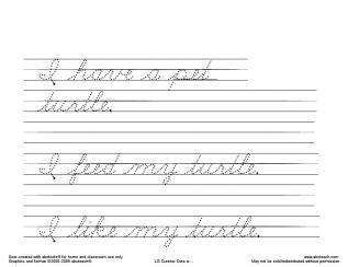 HD wallpapers cursive writing practice printables