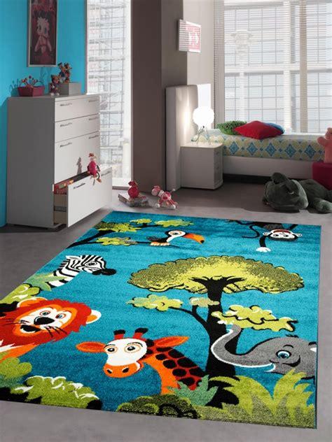 kinderzimmer teppich blau teppich traum teppich f 252 r kinderzimmer mit zootieren