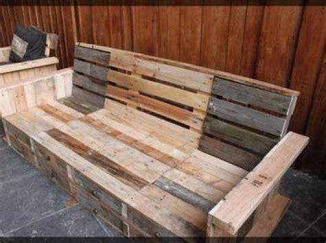 canapé en palette en bois photos canapé en bois de palette