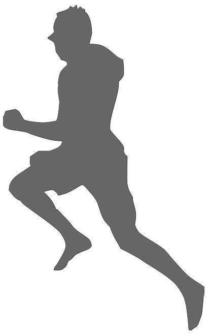 Runner Silhouette Running Clip Svg Gray Woman
