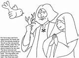 Bible Noah Wife Coloring Crafts sketch template