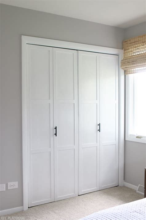 Diy Tutorial Transform Plain Bifold Doors  The Diy Playbook