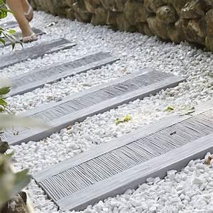 Dalle De Cheminement : dalle de cheminement canisse en pierre reconstitu e gris leroy merlin ~ Melissatoandfro.com Idées de Décoration