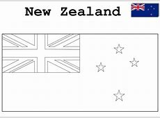 Geography Blog New Zealand Flag Coloring Page