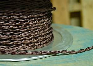 Brown Twisted Rayon Covered Wire  Vintage Style  Cloth